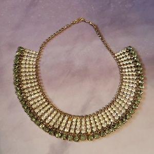 Stunning rhinestone collar bib